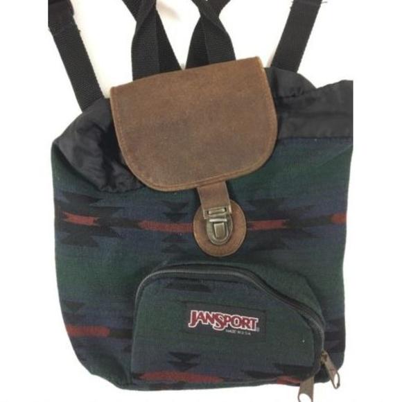 f77c17fbc6 Jansport Handbags - Vintage Jansport Mini Backpack Half Pint Leather